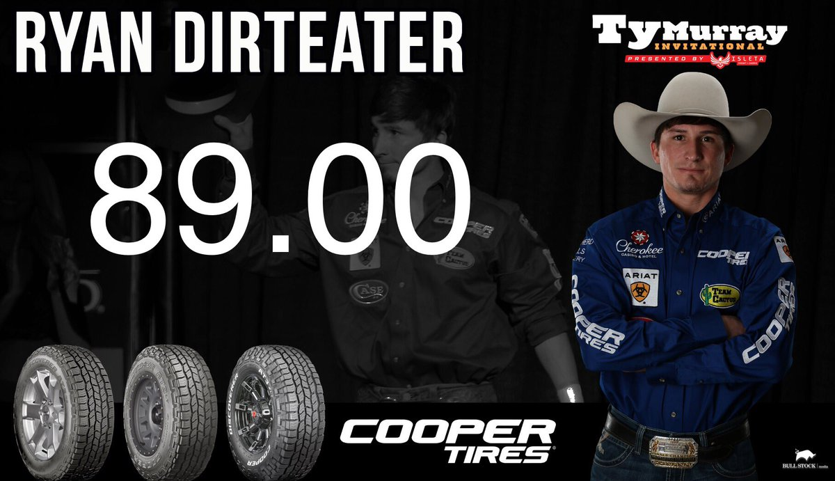 73eaa76e556ea  TeamCooperTire cowboy  ryandirteater takes Fearless the distance for a  score of 89.00 here in the 15 15 Bucking Battle!pic.twitter.com MGvt6L67k3