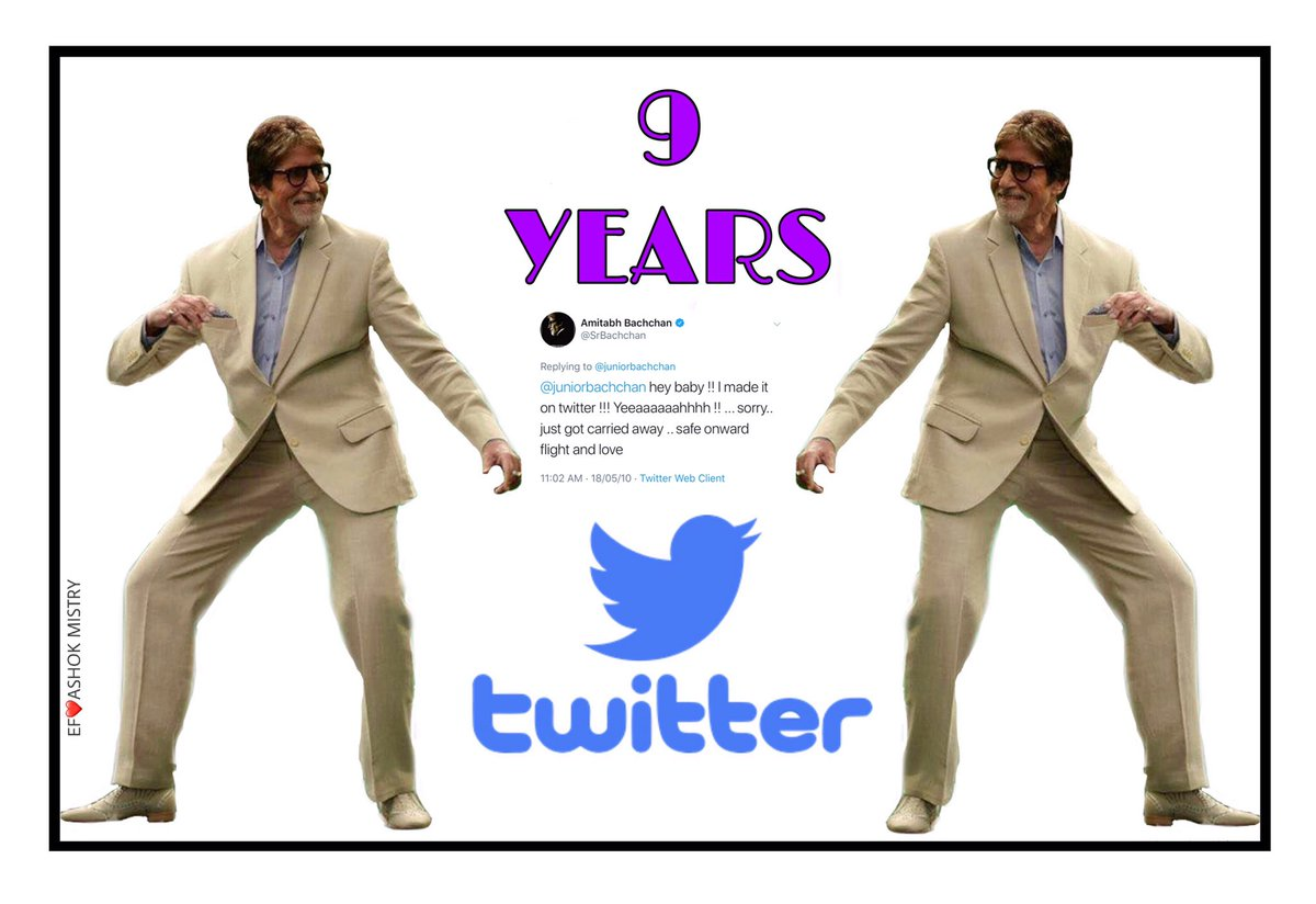 T 3168 - 9 years of Twitter .. err .. ON twitter .. !!🙏🙏🙏 https://t.co/ZRSdkZQ6Vc