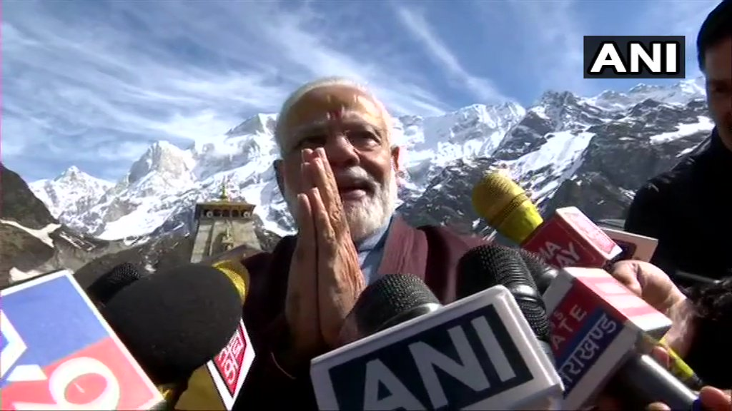 "PM Modi at Kedarnath says, ""I want people of our nation to see the country. While, I don't have any objection to them travelling to foreign countries but they should also travel to see the different places in our country."""