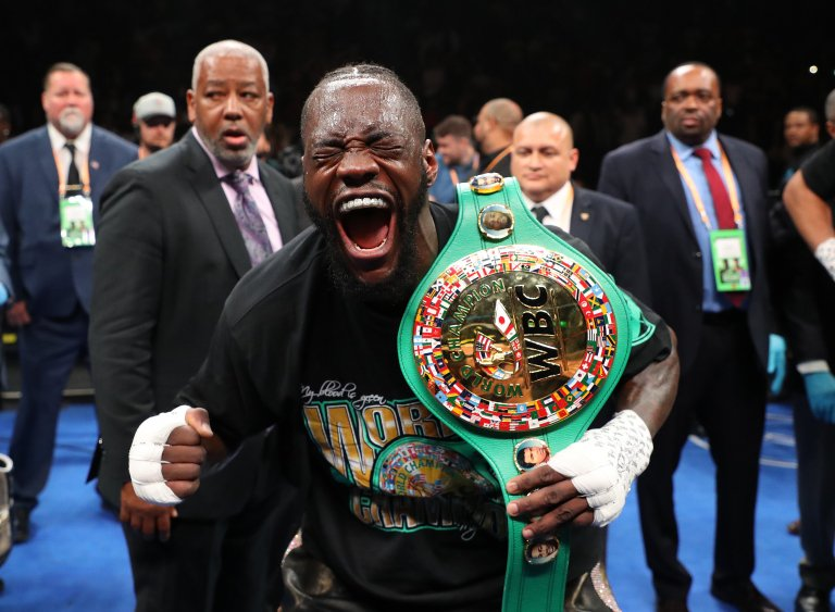 """@BronzeBomber Deontay Wilder - """"I know we say some things, but when you can fight a man and then you can hug him and kiss him, I wish the world was like that""""Don't we allKeep it up and you'll win the Nobel Peace Prize#WilderBreazeale #bbcboxing"""