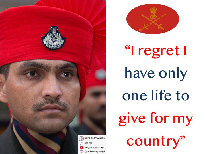 ADG PI - INDIAN ARMY's photo on #SundayThoughts
