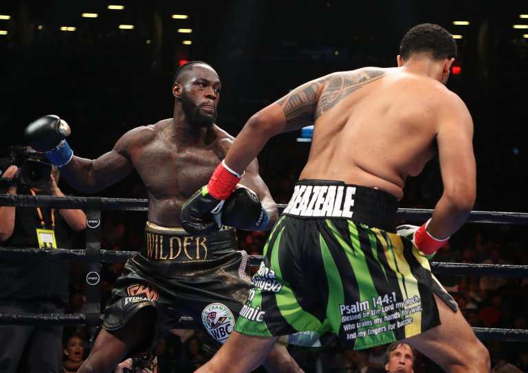 """""""All the big fights are in discussion. No doors are closed"""".Deontay Wilder expects Anthony Joshua and Tyson Fury fights after a huge knockout win.https://bbc.in/2YBVQBi#WilderBreazeale #bbcboxing"""