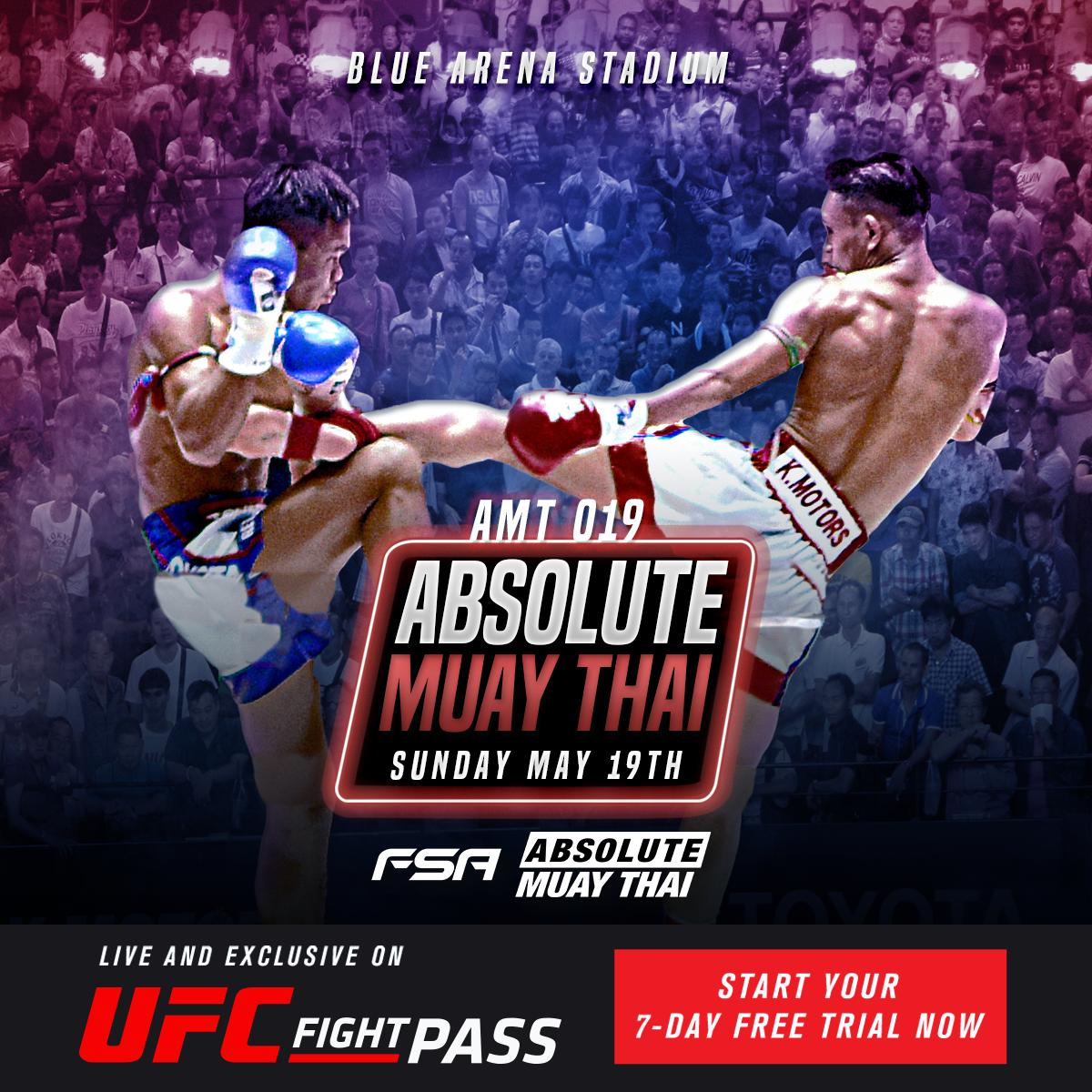 It's time for the most authentic Muay Thai out there!   #AbsoluteMuayThai starts NOW!!! https://www.ufc.tv/video/absolute-muay-thai-019---blue-arena…