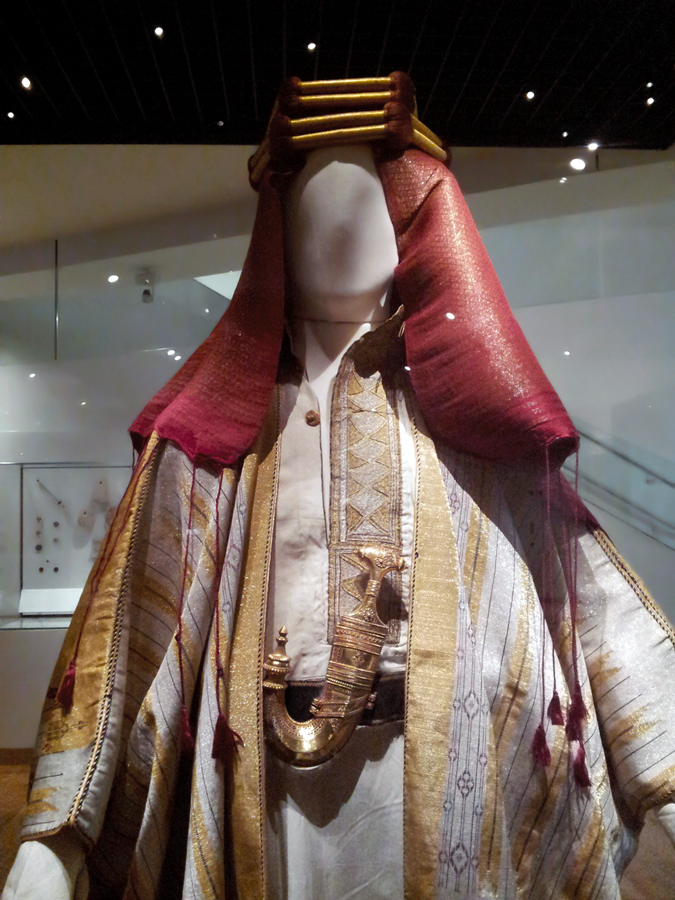T. E. Lawrence, also known as #LawrenceOfArabia, died #onthisday in 1935. Robes worn by Lawrence while he was with the Arab army, along with Lawrence's sandals, a gold ring set with a white sapphire, and a dagger (khanjar) with gold filigree handle, are on display in Gallery 5