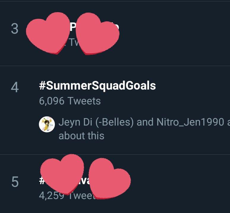 Ended the show at 4th spot with 6k tweets!  Sobrang solid!   More projs for RitKen plsssss rakenrol  @akosiKenChan @missritadaniela  #SummerSquadGoals