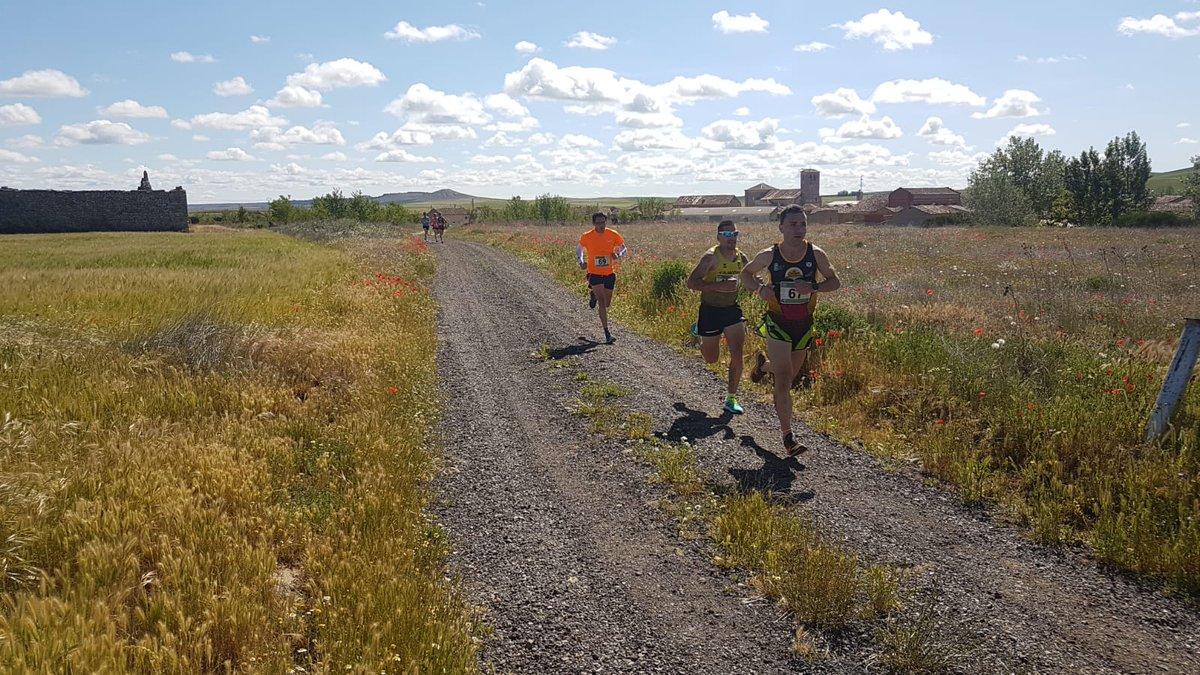 Momentos de la carrera disfrutando de la meseta vallisoletana en Casasola de Arión @dip @alimentosVALL