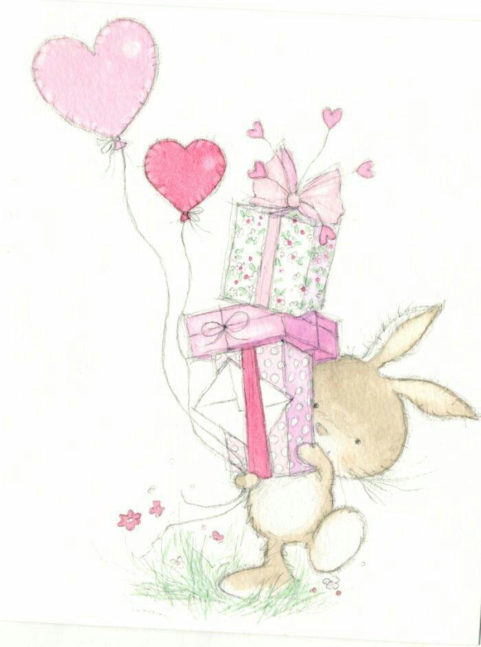 Спасибо, картинка с днем рождения с зайчиком
