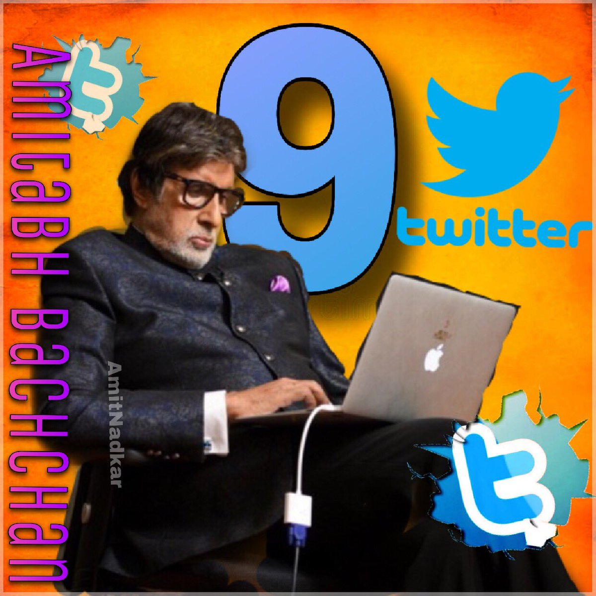 You are the reason why I joined the twitter.. Congratulations Amitji for glorious 9 years on Twitter...your unconditional love and affection that makes twitter world so happy....  Love you Amitji