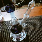 Image for the Tweet beginning: New rig! #wax #bong #thc