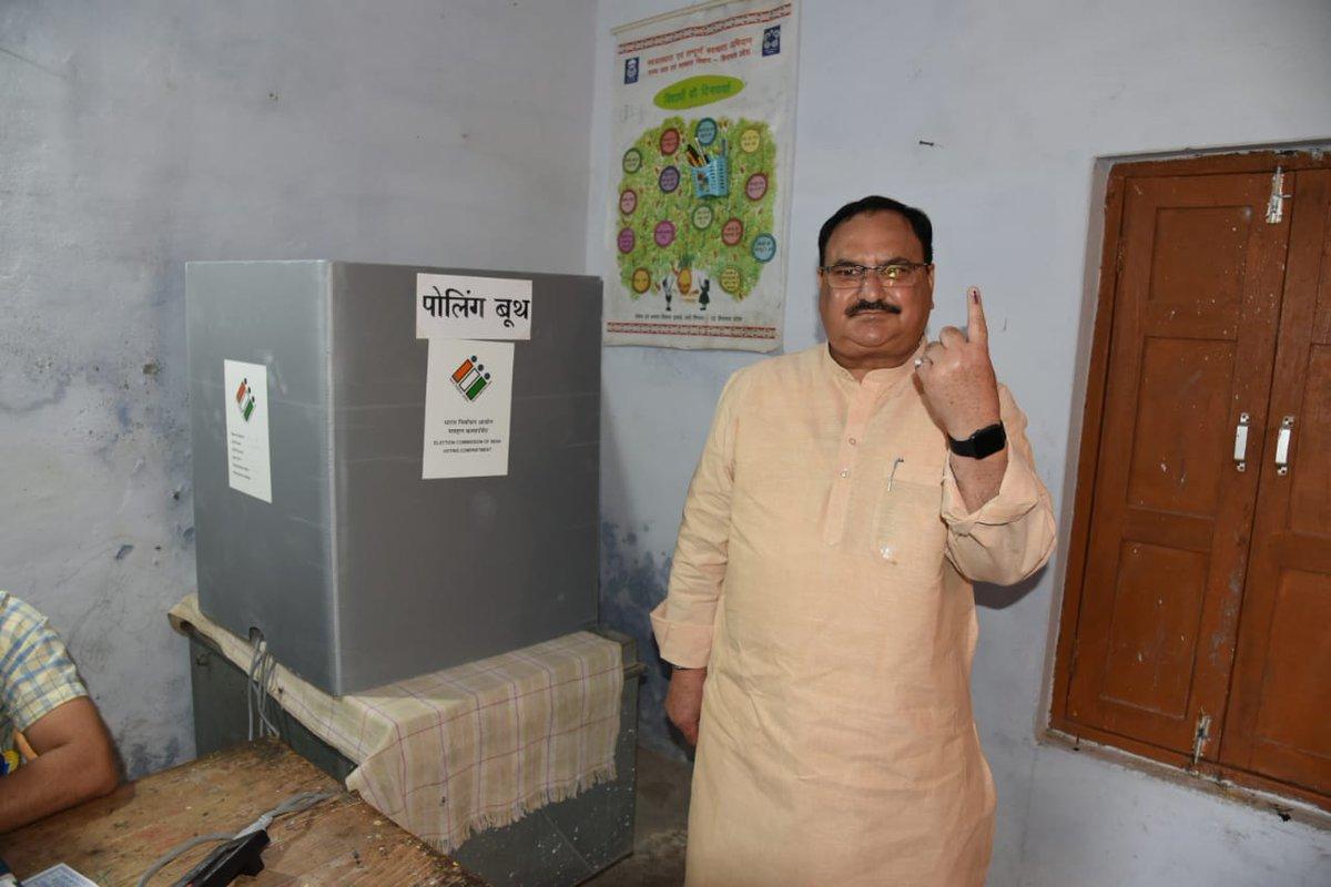 नव भारत निर्माण के लिए बिलासपुर हिमाचल प्रदेश में मैंने अपना मतदान किया।  मैं आप सभी से अपील करता हूं की अधिक से अधिक संख्या में अपने मताधिकार का प्रयोग कर एक विकासवादी, सशक्त, ईमानदार एवं विश्वसनीय सरकार चुनें।