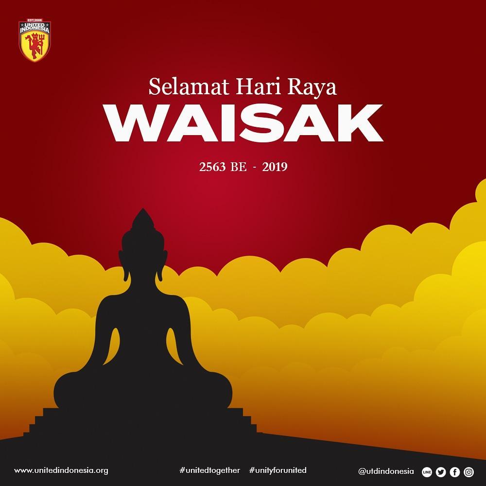 Selamat Hari Raya Waisak 2563 BE 2019. Sabbe Satta Bhavantu Sukithata. Semoga semua makhluk berbahagia. 😊🙏🕯️ #HariWaisak2019  #Waisak  #UtdIndonesia #UnitedTogether #UnityForUnited