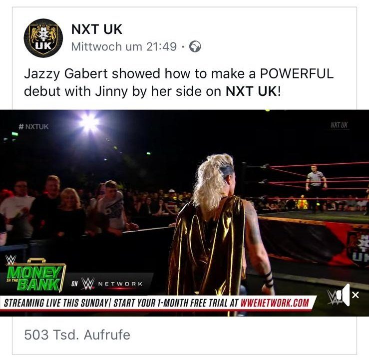 Holy cannoli sweet mother of a goose!!! In 4 days half a million people watched my debut for @NXTUK