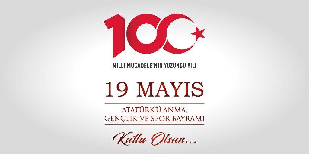 19 Mayıs Atatürk'ü Anma, Gençlik ve Spor Bayramı'nı kutluyor, Gazi Mustafa Kemal Atatürk ve silah arkadaşlarını Millî Mücadele'nin 💯. yılında saygı ve rahmetle anıyoruz.🇹🇷