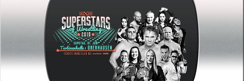#wXwSoW June 1st - Oberhausen w/ @JanelaBaby, @WWE legends @ShamrockKen & @TheBobHolly, WWE UK Champion @WalterAUT, @IMPACTWRESTLING World Champion @MrGMSI_BCage, wXw & @NXTUK Champion @tonistorm_, NXT UK Stars @Kelly_WP & @UNBESIEGBAR_ZAR & more. Tickets: https://www.eventbrite.de/e/wxw-superstars-of-wrestling-2019-oberhausen-tickets-52899472747…