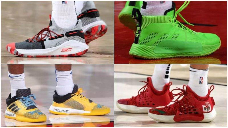 球鞋匯 | NBA球員今日球鞋上腳:Curry 6代總冠軍賽配色曝光,Lillard穿熒光綠球鞋十分騷氣!