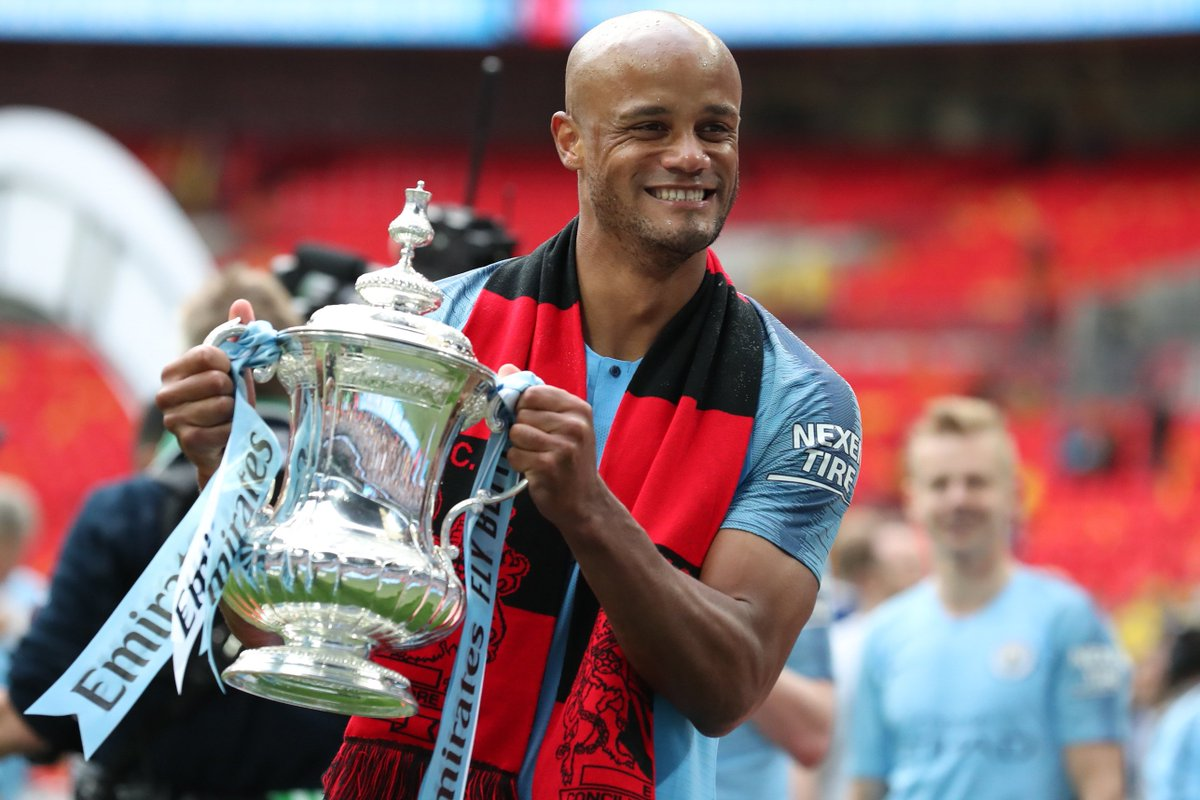 """Commenting on his decision, Kompany said: """"As overwhelming as it is, the time has come for me to go. And what a season to bow out. I feel nothing but gratefulness. I am grateful to all those who supported me on a special journey, at a very special club""""."""