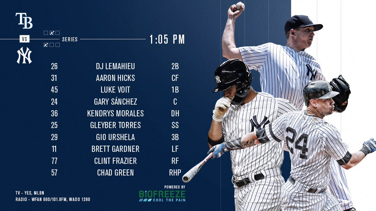 Series finale. Homestand finale. Let's end it with a W. Powered by @Biofreeze