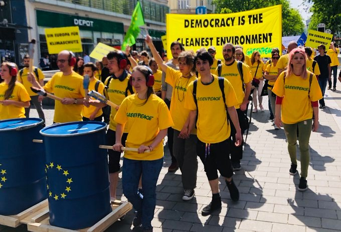 Vote in the #EUelections2019 on 23-26 May 🇪🇺💚 Because democracy is the cleanest environment #19May #EinEuropafürAlle #VoteForClimate
