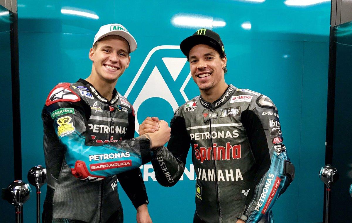You guys fuel our dreams ✨ Keep it up! 🤜🏼💥🤛🏼  P7 - @FrankyMorbido12  P8 - @FabioQ20  #FrenchGP #teamPETRONAS #MotoGP #PengejarImpian #OutstandingHumans @sepangracing
