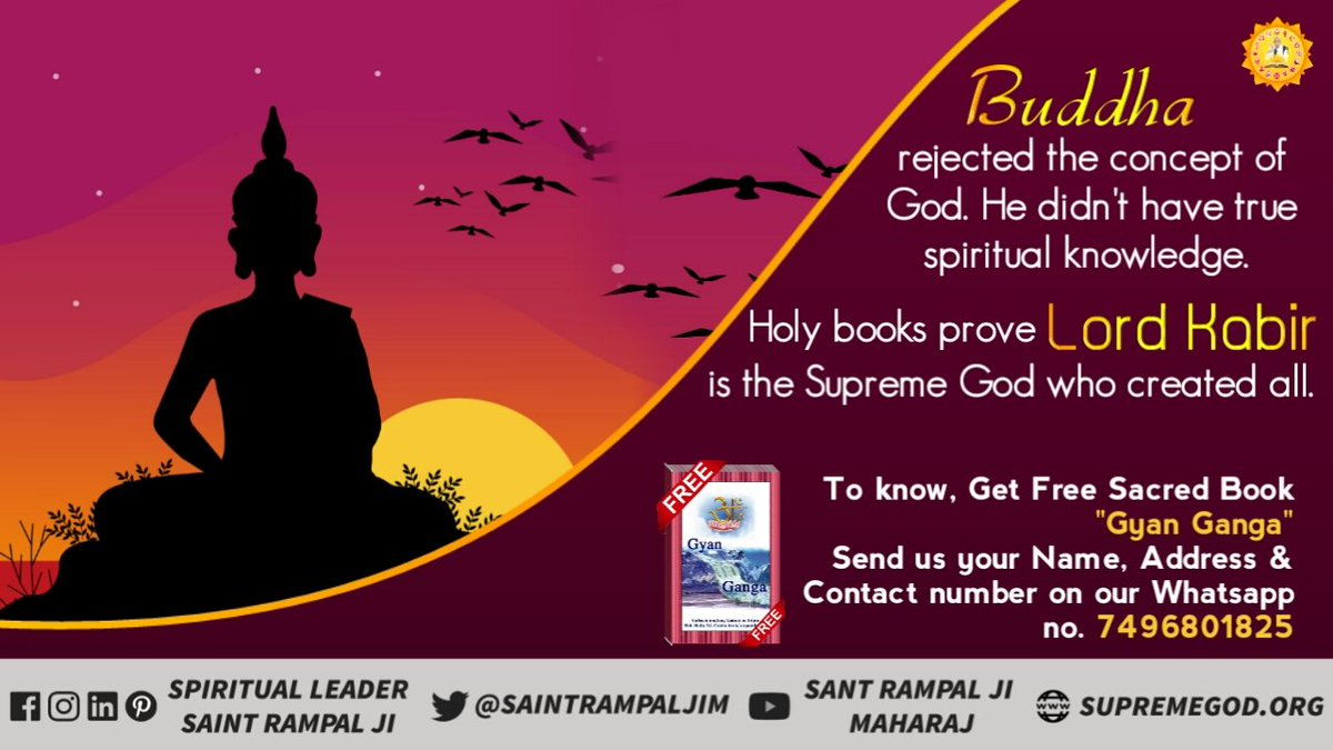 #BuddhaPurnima   Only tatvadarshi sant Rampal Ji Maharaj is giving true knowledge of  According to our scriptures. @sachin_rt  #BHIM <br>http://pic.twitter.com/DdBHzRBQTT