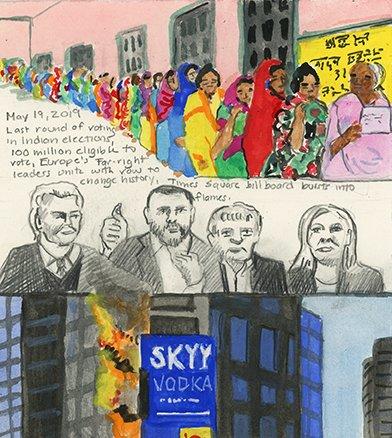 Diary of a Radio Junkie:1275Days of Waking Up to the News #India #IndiaElections2019  #IndiaElections #Europe #MatteoSalvini #MarineLePen #GeertWilders #FarRight #TimesSquare #FroschPortmann #EliseEngler #ArtonLowerEastsideGalleries #radio #NYC #NPR #WNYC #Art #ShowclosesToday<br>http://pic.twitter.com/q4kkHHTwol