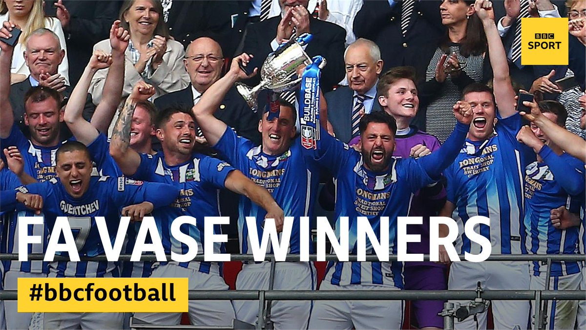 Congratulations to Chertsey Town, #FAVase winners! #NonLeagueFinalsDay