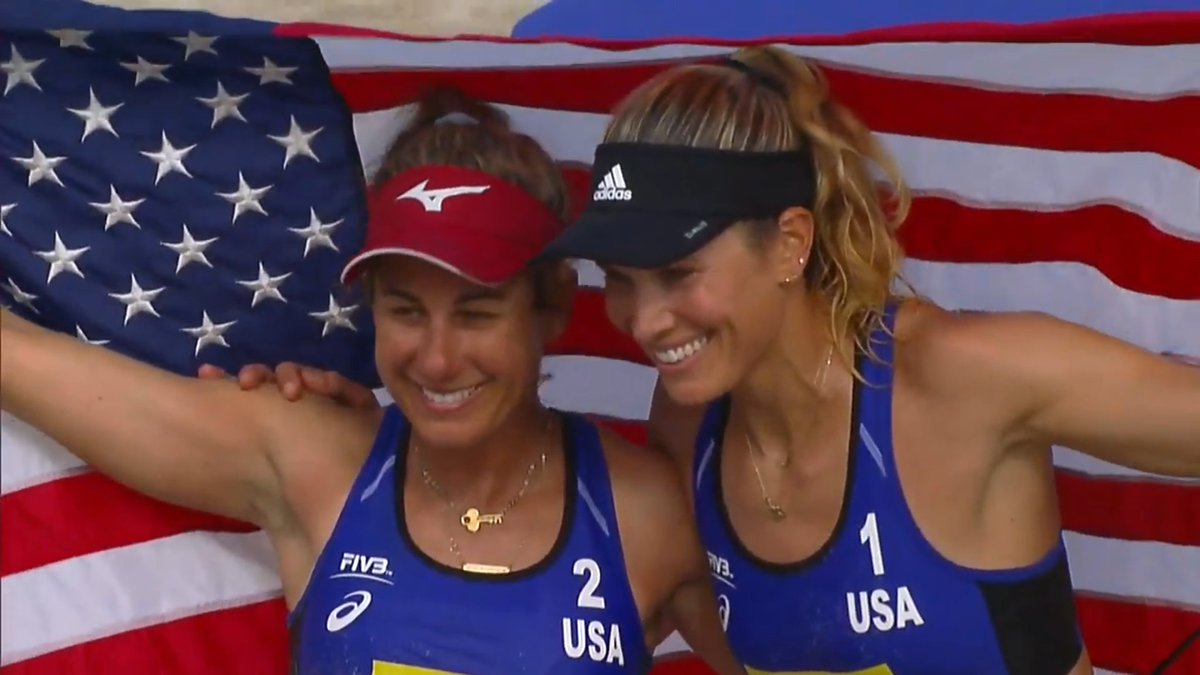 GOLD!! 🥇 @AprilRossBeach/@alixklineman  🇺🇸 beat Sarah Pavan/Melissa Humana-Paredes of Canada 🇨🇦, 25-23, 18-21, 15-10 at FIVB 4⭐ in Itapema.   They earn $20,000 and 800 points toward Olympic qualifying. #GoUSA🇺🇸