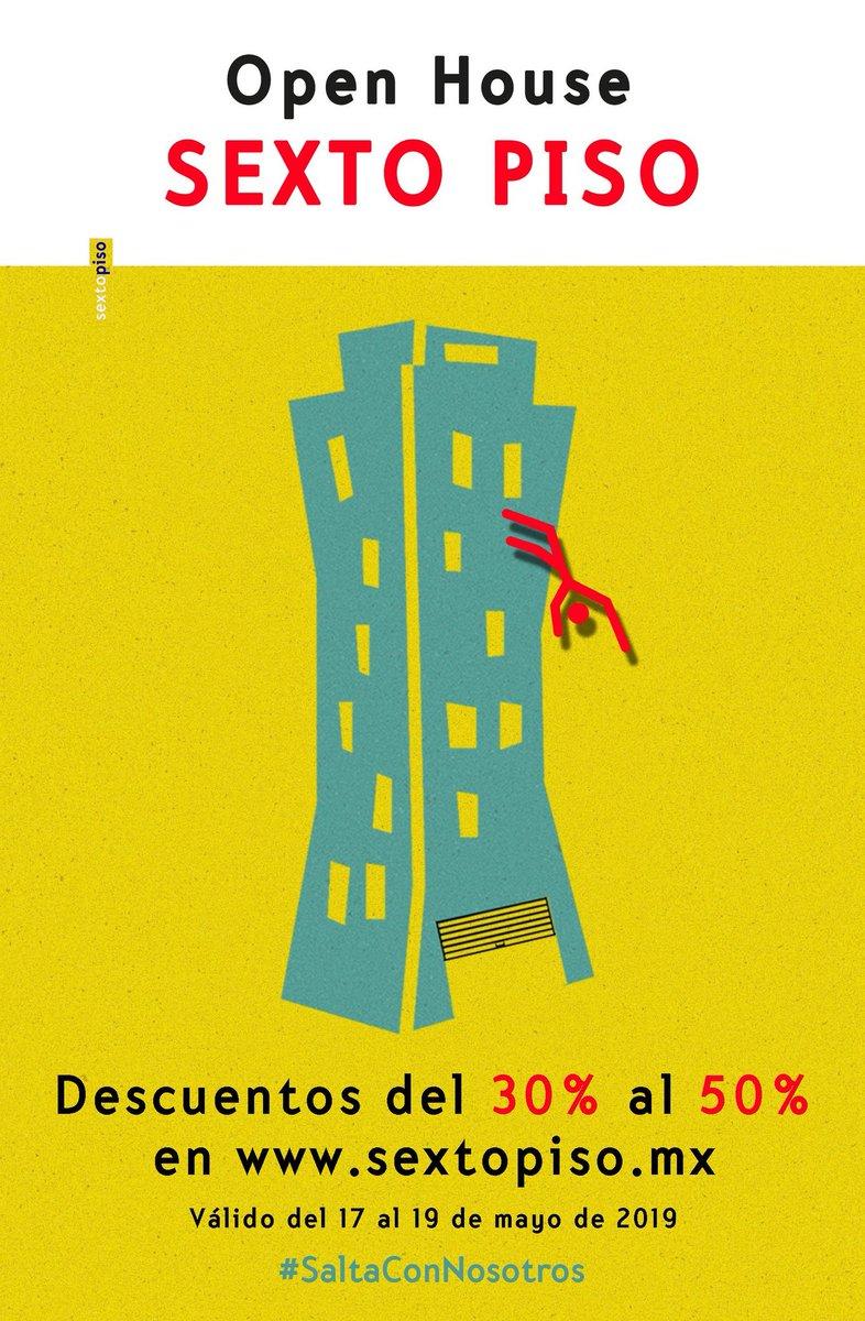¡Hoy último día de Open House en nuestra tienda en línea! Descuentos del 30% al 50%.#SaltaConNosotroshttp://sextopiso.mx/esp/items/305/descuentos…