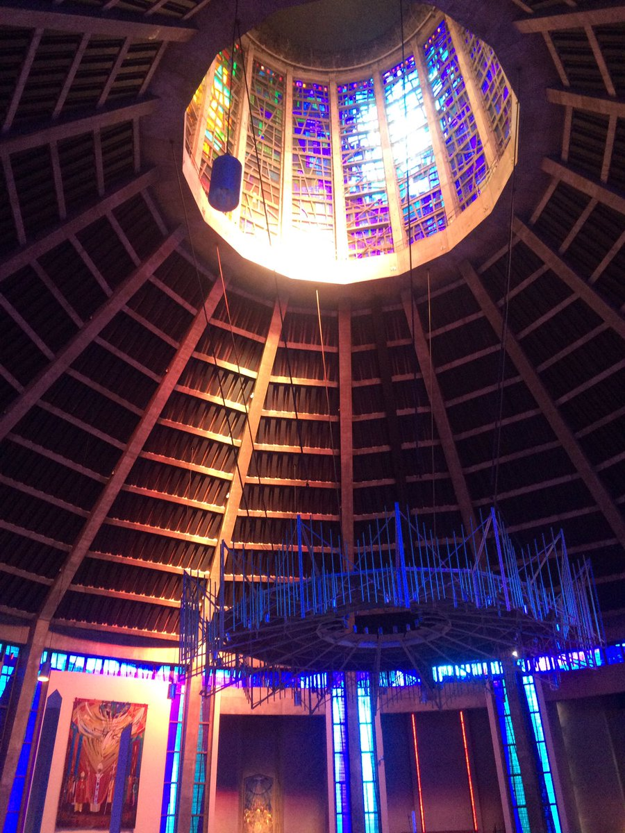 Inside Liverpool's kaleidoscopic cathedral yesterday