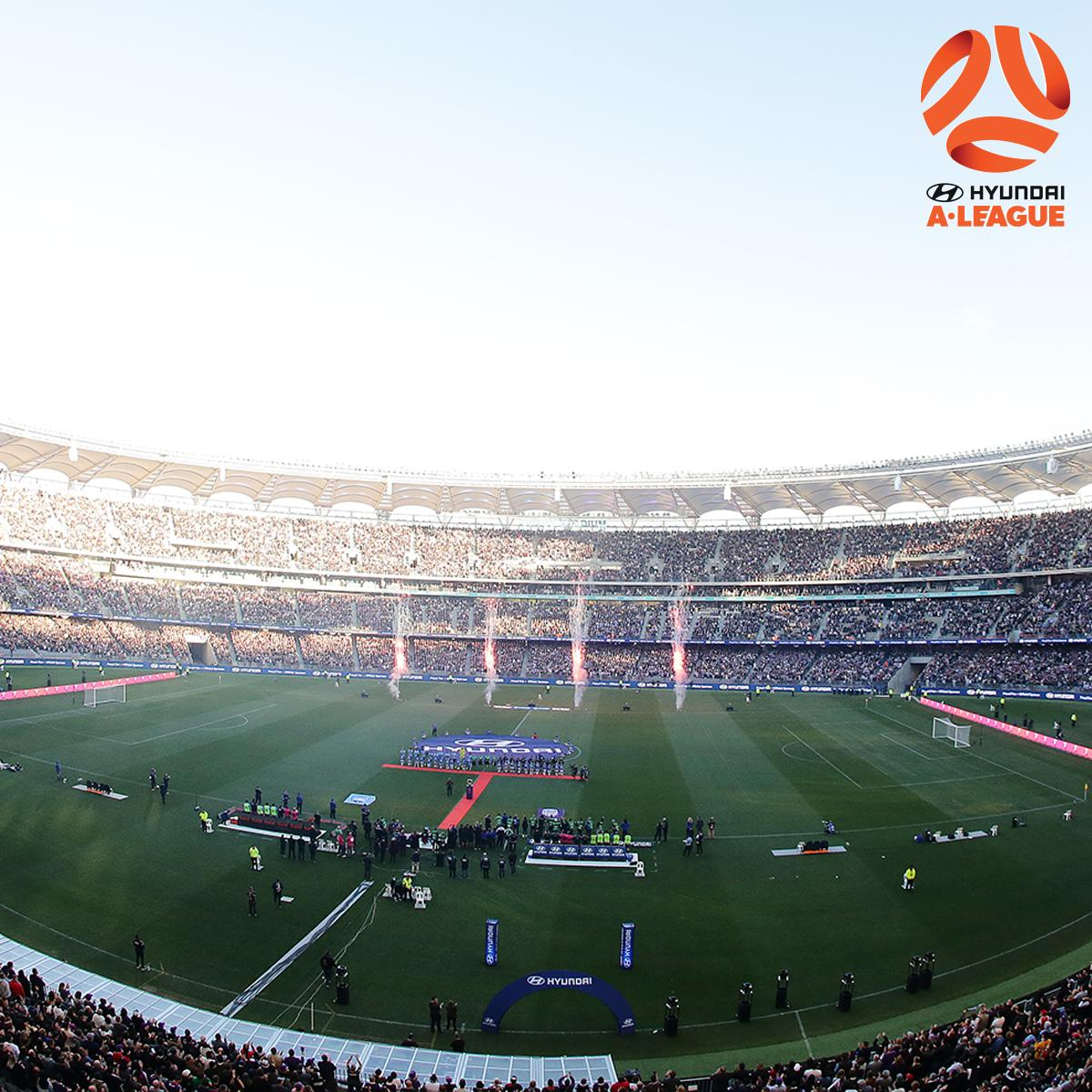 CROWD 👏👏👏  Congratulations to the 56,371 fans who have flocked to @OptusStadium for the #ALeagueGF.  #ALeagueGF #FeelTheFinals