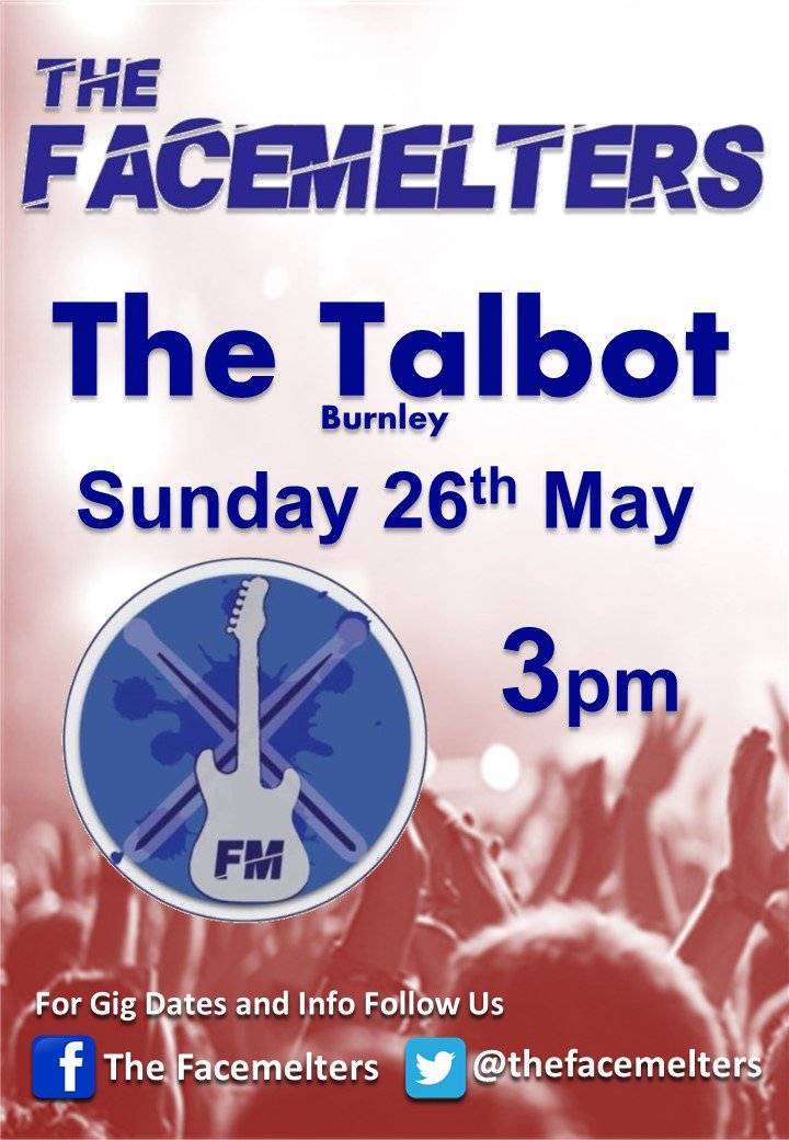 RT @thefacemelters: @burnleysocial : Catch The Facemelters at The Talbot https://t.co/zhHTXKM4zj