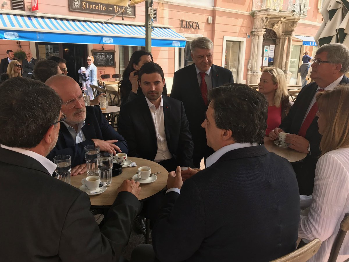 Arrived in Rijeka, Croatia, to support my friends from @SDPHrvatske in their European elections campaign. #ItsTime