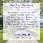[CALENDAR] #DailyMotivation from Isaiah 43:2. #HPU365