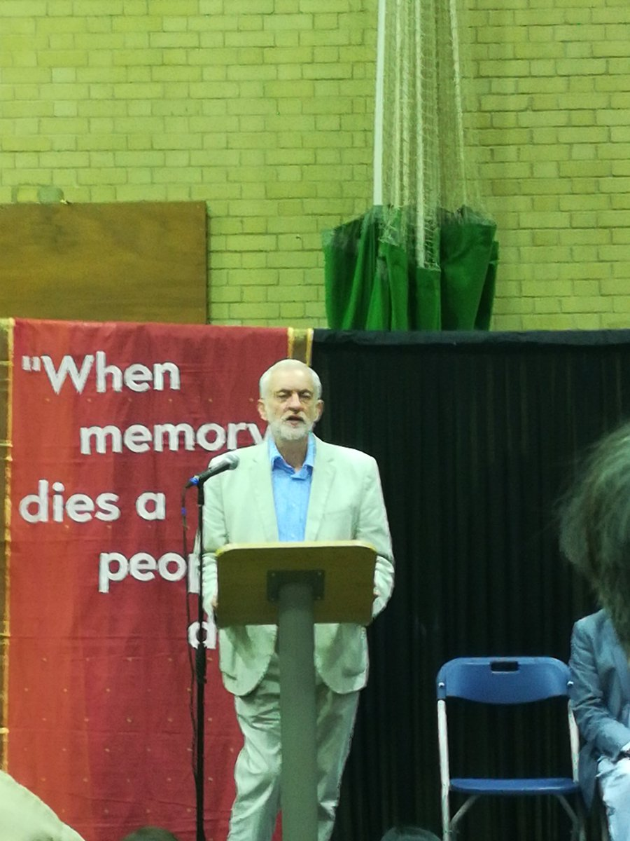 A sad occasion but also an occasion where the community can come together... and learn about the history of what the Tamil people have gone through in Sri Lanka Jeremy Corbyn, Opposition leader