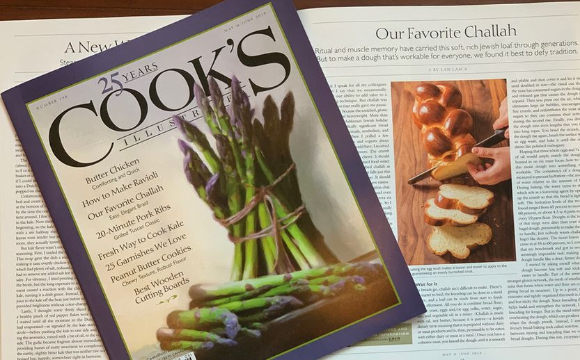 Acclaimed chef and author, Lan Lam, chronicles the visit in her online article and our unique Challah braiding technique in the May 2019 print issue of Cook's Illustrated.  https:// buff.ly/301Ern3     @TestKitchen @CooksIllustratd #boston2019 <br>http://pic.twitter.com/bNDk5OonNu