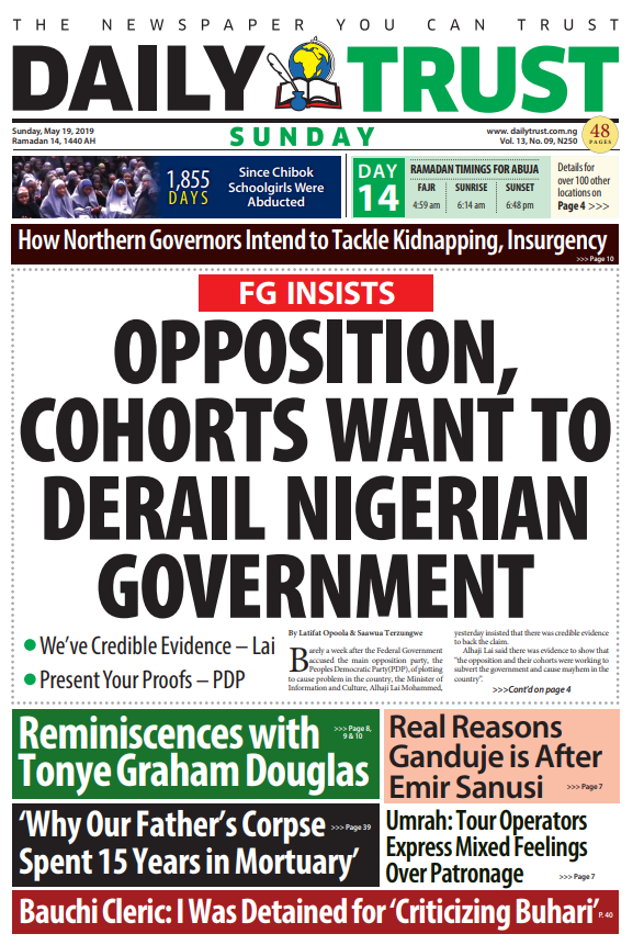 "Headlines: A Bauchi cleric says he was detained for ""criticising Buhari"".  PDP and APC, Atiku and Buhari go head to head at tribunal over proofs and evidence.  There's some ""real"" reason Ganduje is going after Emir Sanusi.  And why did a man's corpse stay 15 years in a mortuary?"