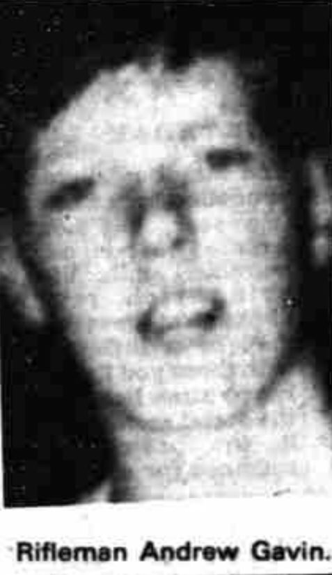 #OnThisDay in 1981 the IRA murdered Andrew Gavin, 19. 1 of 5 soldiers murdered using a massive landmine 3 miles outside Crossmaglen. In 2nd vehicle of a 2-Saracen patrol when 1,000 lb bomb exploded. The 10 ton Saracen disintegrated with its heavy radiator hurled 200 yrds #OTD