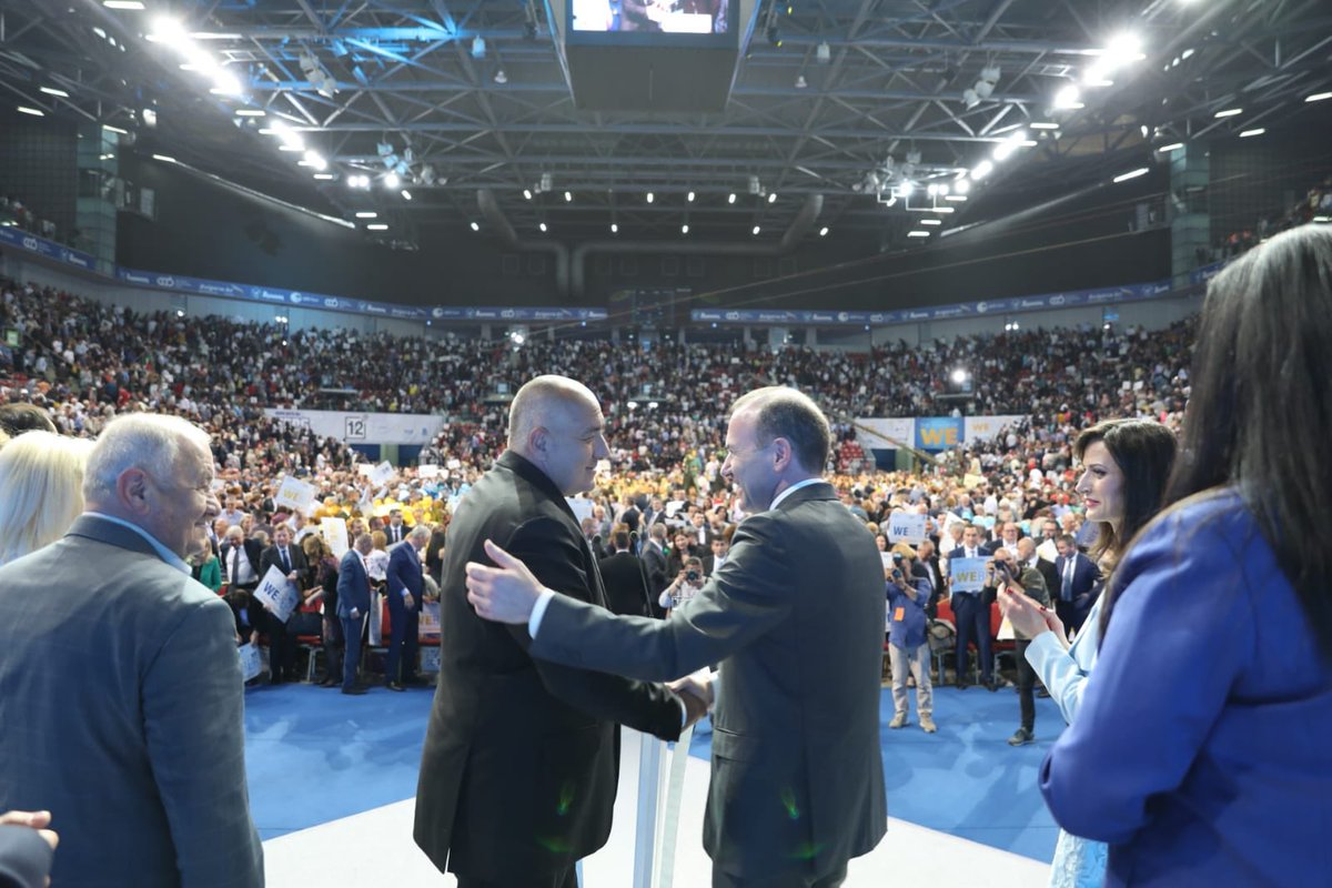 #Bulgaria under the leadership of @BoykoBorissov is respected in the European family. We, as @EPP, are proud of Bulgaria, but we are also proud of Europe. Together, we fight against the nationalists and populists. Thanks for the great audience & support. @GabrielMariya @PPGERB
