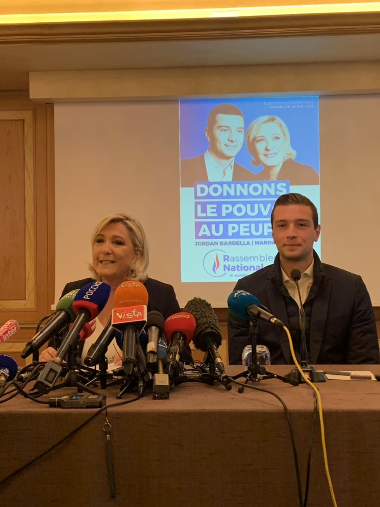 """#MarineLePen speaking at a conference ahead of #Salvini's rally in #Milan yesterday she told me """"she hopes more people will join the alliance. The number of leaders and their countries we see today in Piazza Duomo is not definitive"""". #EUelections19 @euronews <br>http://pic.twitter.com/p5vk5HYgkC"""
