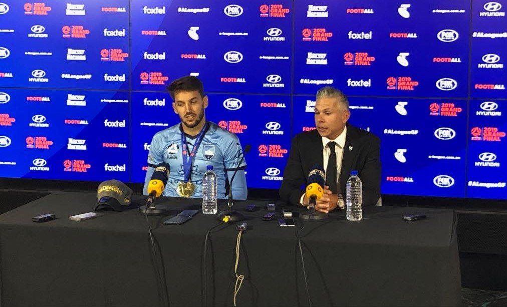 Victorious @SydneyFC Manager: Great crowd, great atmosphere, great Stadium.  #ALeagueGF #FeelTheFinals