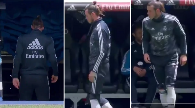 As his Real Madrid C.F. teammates went over to thank fans for their support all season, Gareth Bale was gone! He got up from the bench and headed straight down the tunnel in what could be his last EVER Real Madrid game... sportbible.com/football/fails…