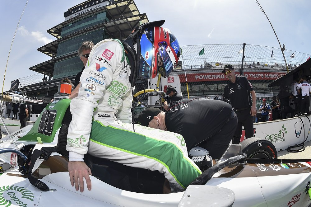 How close to the edge was @ColtonHerta on his eye-opening #Indy500 qualifying run? bit.ly/2JysTmn