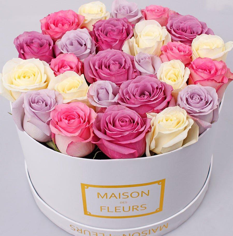 Картинка с днем рождения коробка цветов