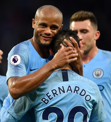 THANK YOU CAPTAIN! 🔵🔵 What a pleasure to share the dressing room and learn from you over the last 2 seasons. We'll miss you @VincentKompany