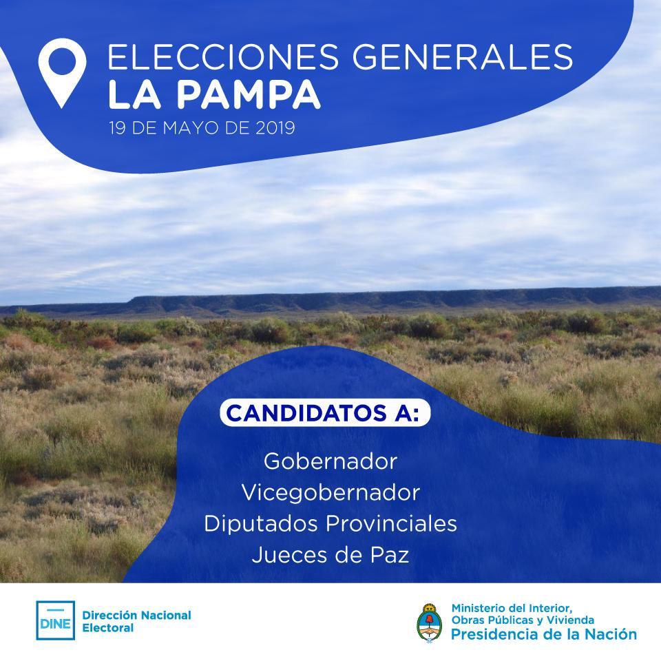 Hoy la provincia de #LaPampa convoca a Elecciones Generales.  • 0.8% del electorado nacional • 282.055 Electores • Jóvenes de 16 y 17 años pueden votar