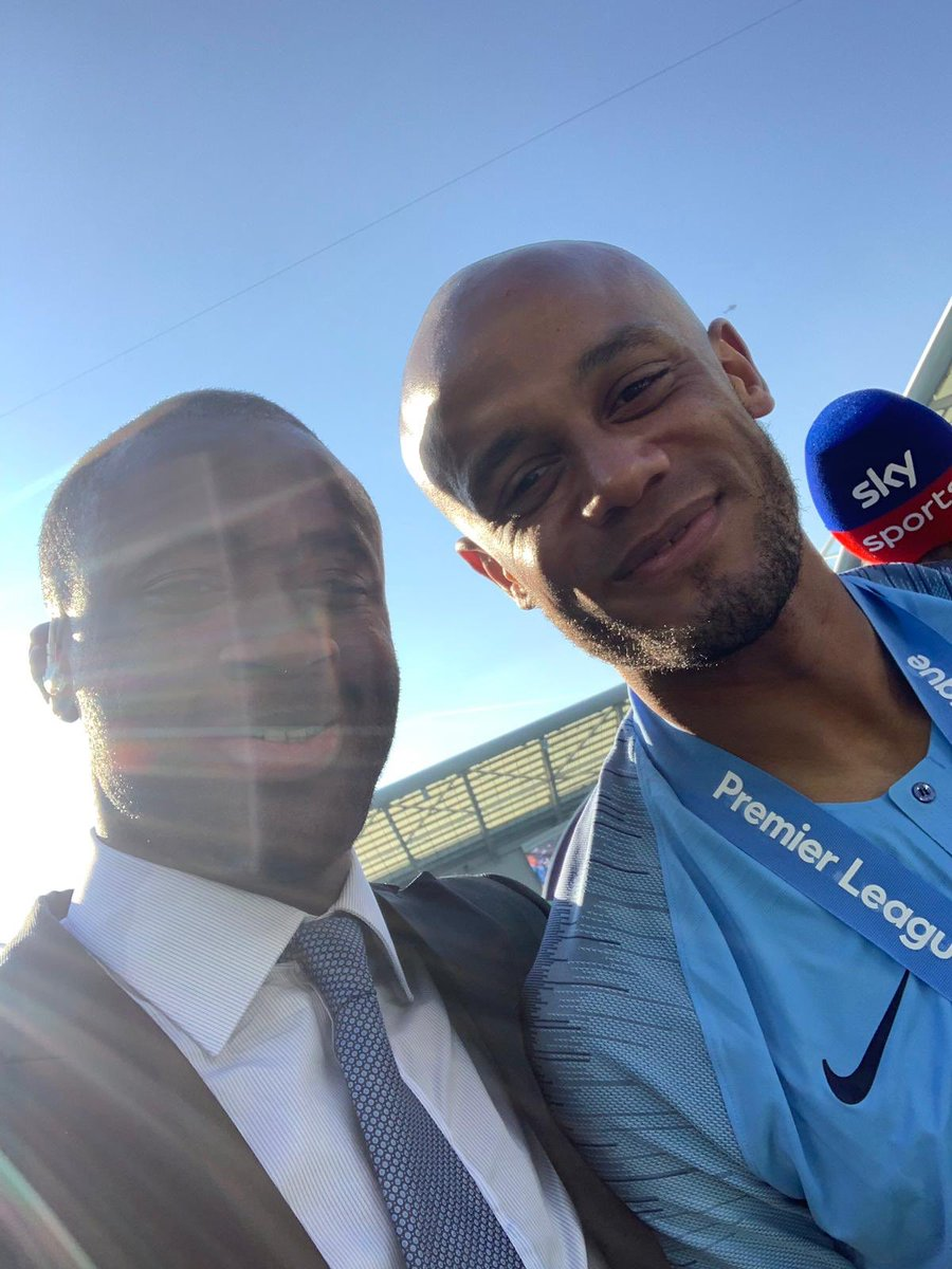 My brother Vinny!! It was an honour to share the pitch with you at City! Memories I will cherish. Trophies! Titles!! Making a plan a reality! 🙌🏾 You are a special man!! A leader. My friend.