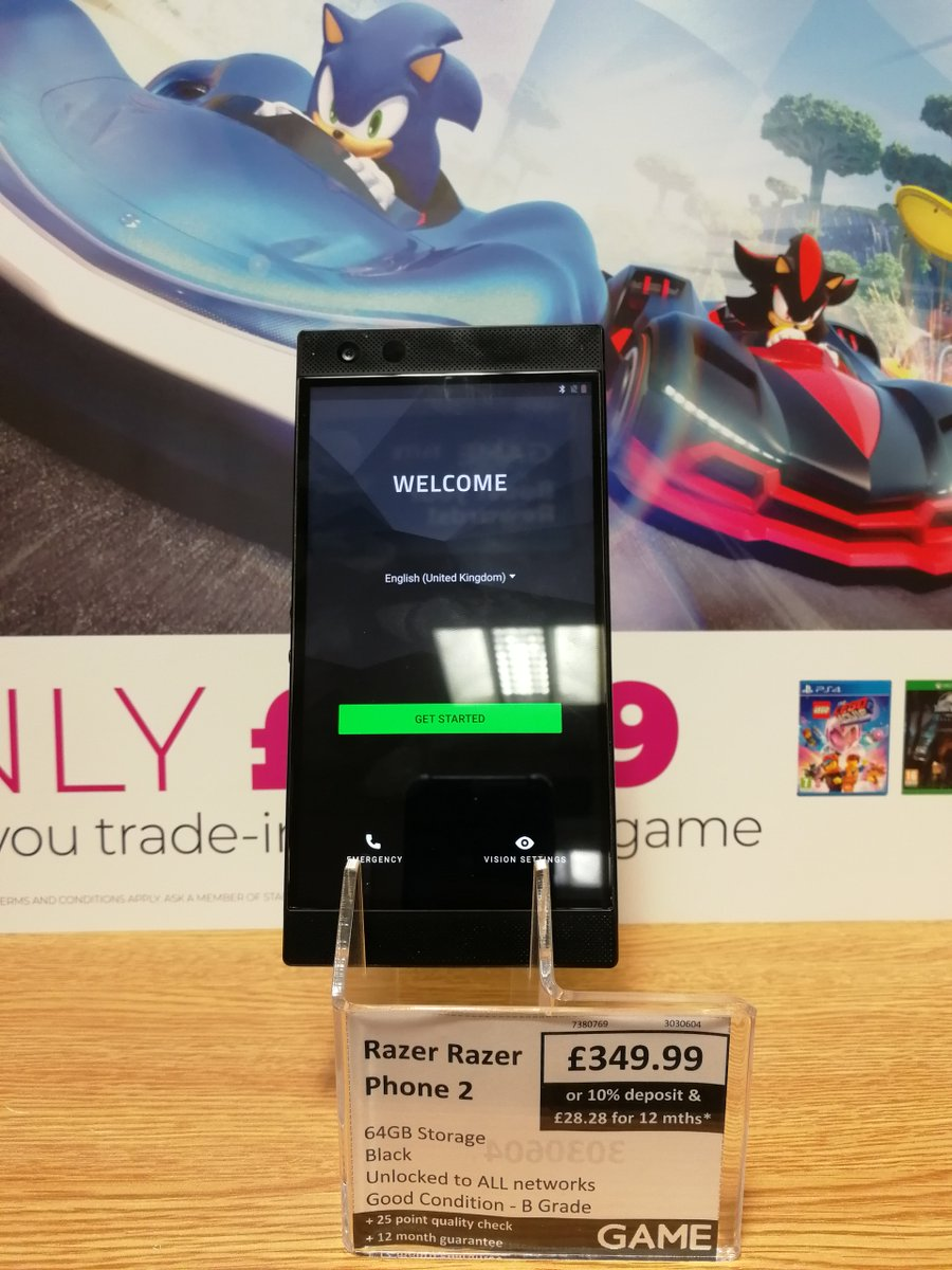 Want a phone for gaming! This is perfect for you! The Razer Phone 2! unlocked to all networks and 64GB storage! only £349.99! #PhoneOfTheDay<br>http://pic.twitter.com/htFNB5sBvs