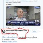 """Image for the Tweet beginning: Un exemple de """"vermine"""" anti-#GiletsJaunes"""