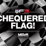 FLAG: @EricssonHampus claims his first British F3 win, with @clementnovalak 0.672s behind. Frederick holds off @ayrton_simmons to take third