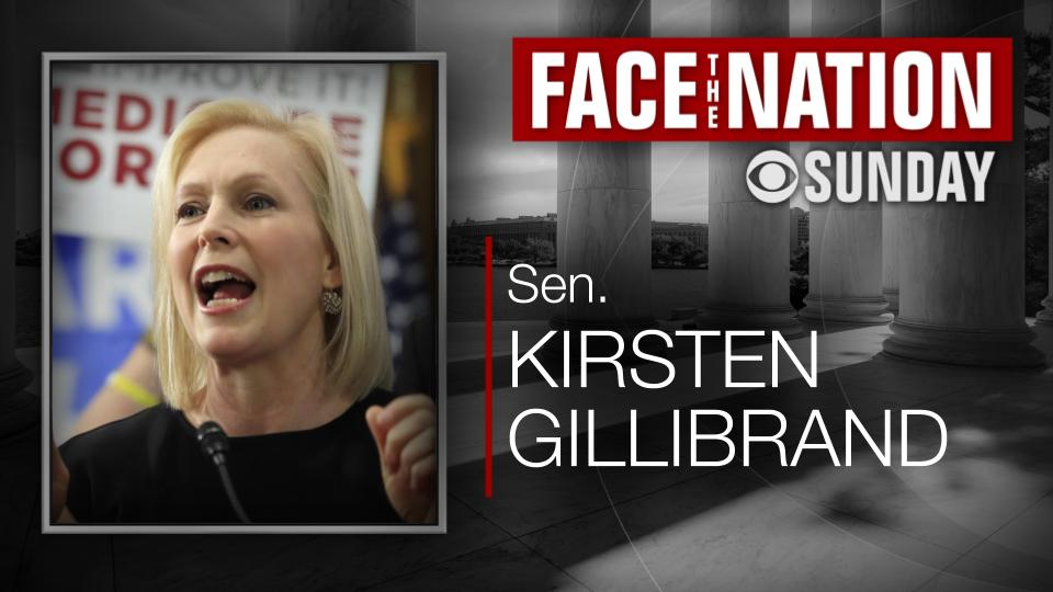TODAY: we interview 2020 Democratic presidential candidate @SenGillibrand  📺 On TV, the radio, and streaming online, don't miss @FaceTheNation this morning https://cbsn.ws/2JJe7Z8